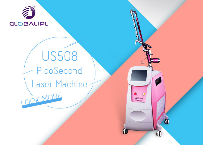 1-10HZ Picosecond Laser Machine / 2000W Tattoo Removal Equipment With SBS System